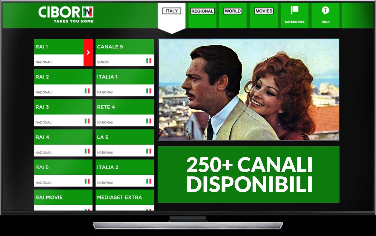 cibortv box stream italian tv